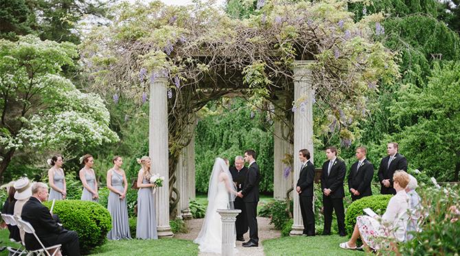Peach and Gray Estate Wedding