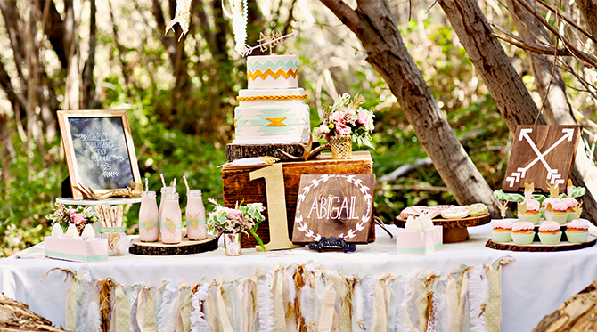 Whimsical Woodland First Birthday