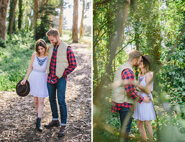 Cozy Forest Engagement Shoot