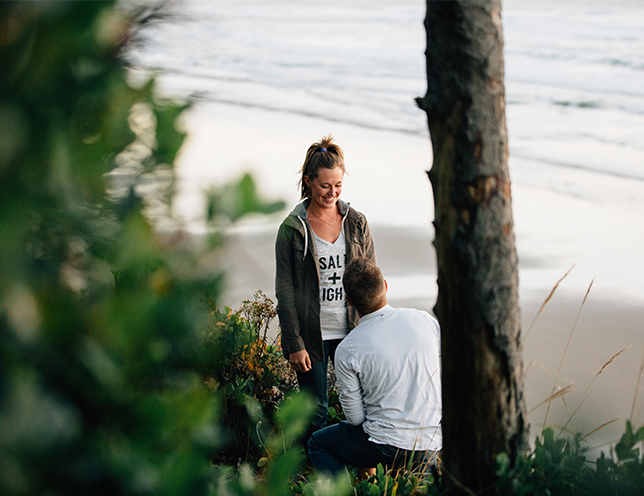 Beach Bonfire Proposal
