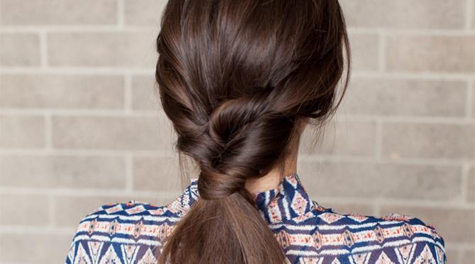 DIY New Year's Eve Hair: Topsy Tail