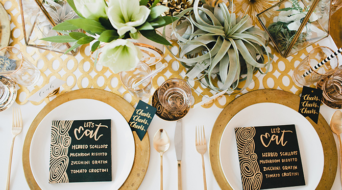 White & Gold New Year's Eve Table
