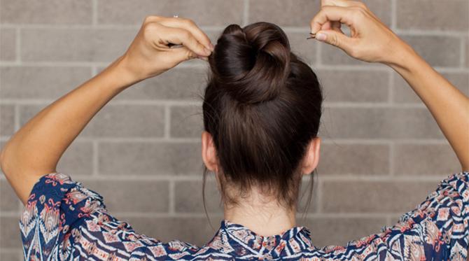 DIY Holiday Hair: Double Wrap Ponytail Bun