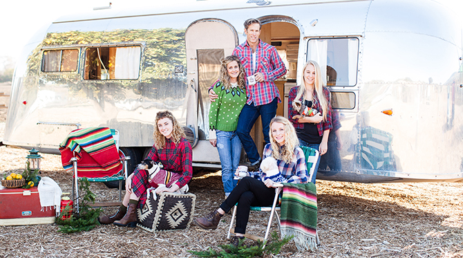 Christmas Camping Family Session