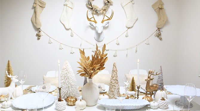White and Gold Holiday Party