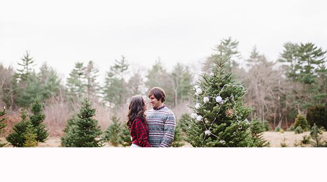 Cozy Christmas Tree Farm Anniversary Shoot