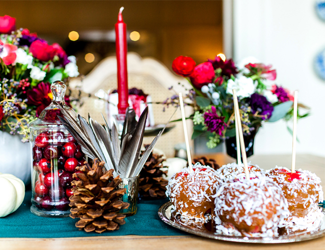Cranberry and Plum Holiday Brunch