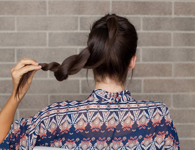 DIY Holiday Hair Double Wrap Ponytail Bun Inspired By This - Diy ponytail wrap