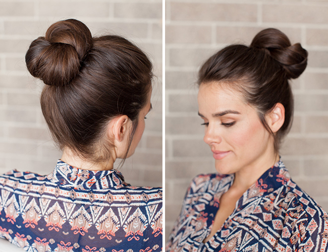 Pleasant Diy Holiday Hair Double Wrap Ponytail Bun Inspired By This Short Hairstyles Gunalazisus