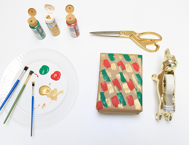 Last Minute DIY Holiday Gift Wrap