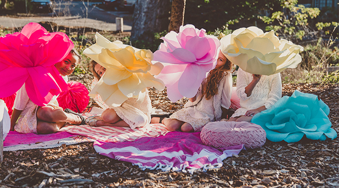 Rose Themed Girl's Birthday Party