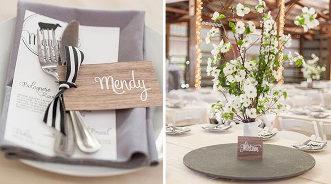 Black & White Striped Wedding