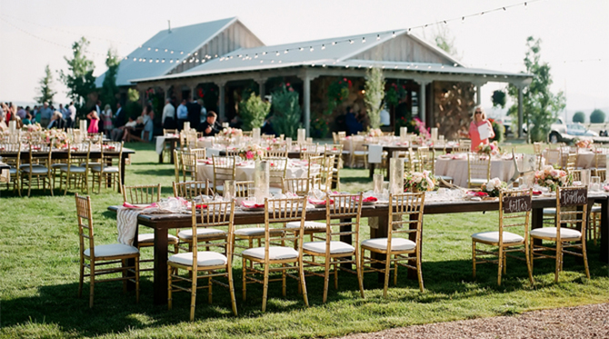 Pink and Gold Barn Wedding