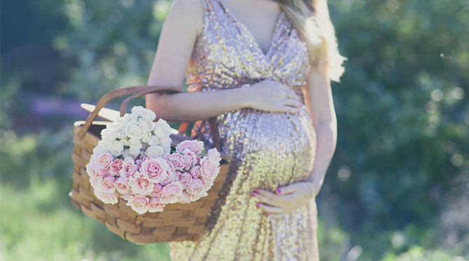 Glamorous Outdoor Maternity Session