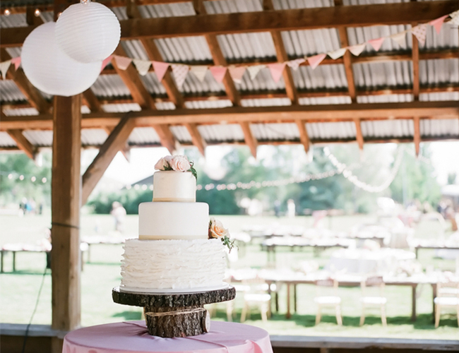 Pink & Gold Barn Wedding