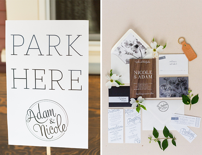 Black & White Striped Wedding