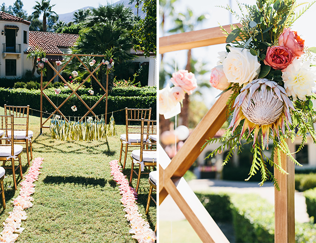 Orange & Pink Palm Springs Wedding