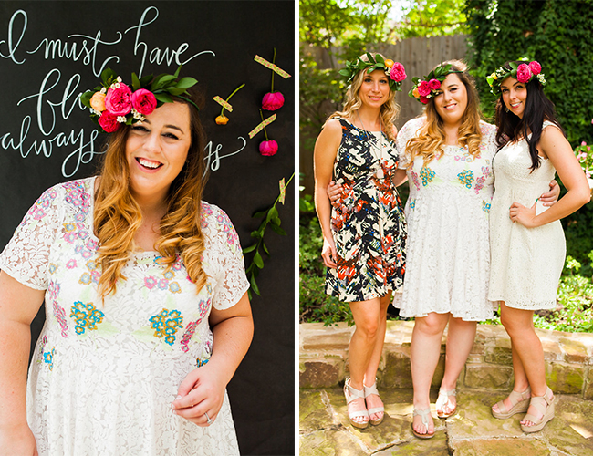 Flower Crown Crafting Bridal Luncheon