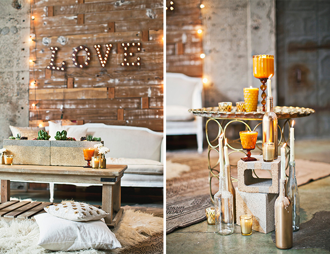 Urban White & Gold Cocktail Party