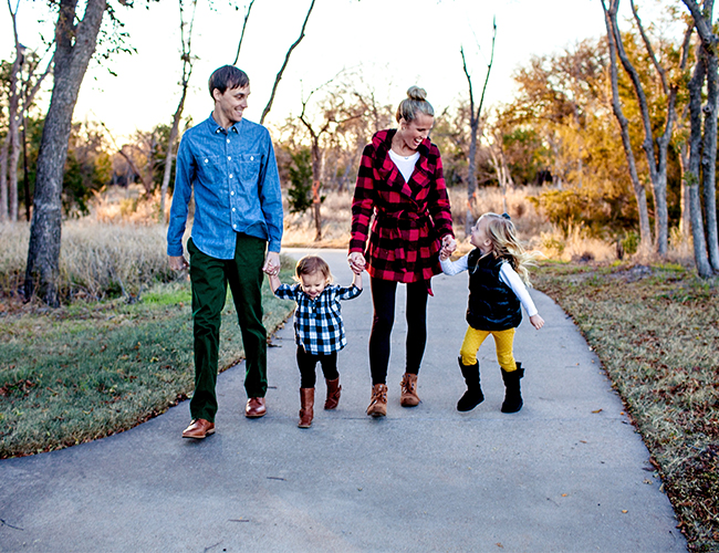 Winter Plaid Family Session