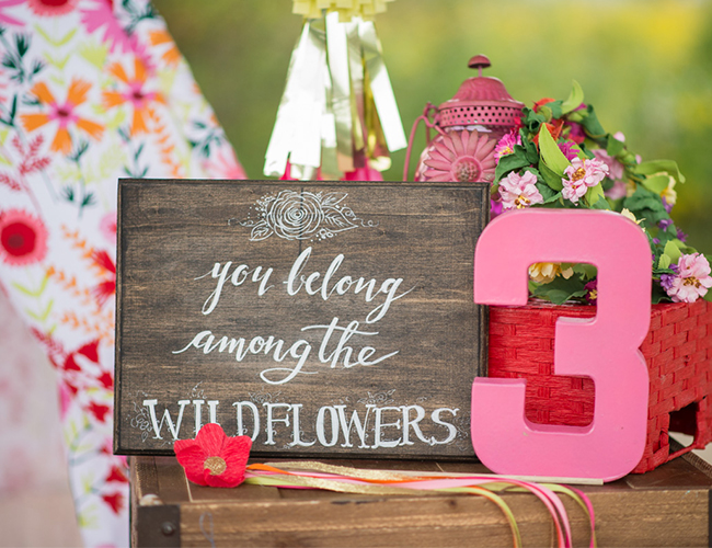 Pink Wildflower Birthday Party