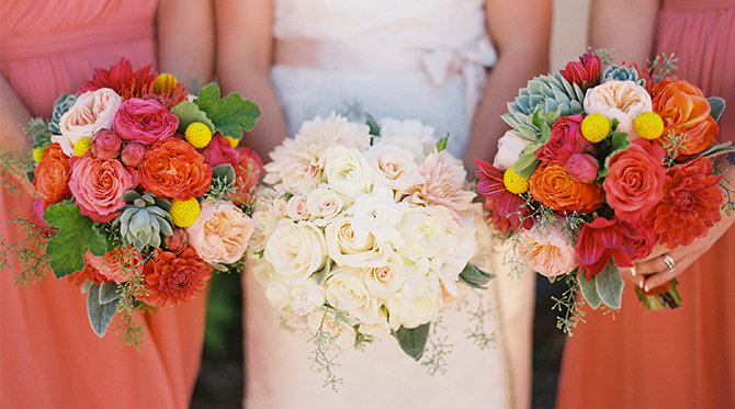Red & Coral Santa Barbara Wedding