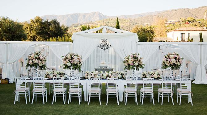 Santa Barbara Blush and Nude Wedding