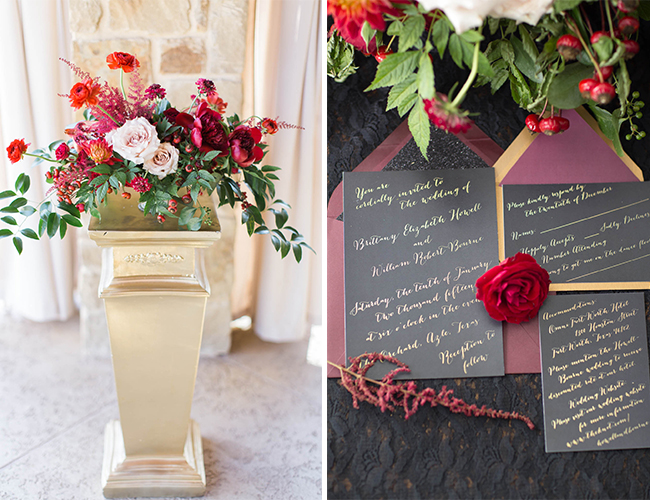 Black and Red Valentine's Day Wedding