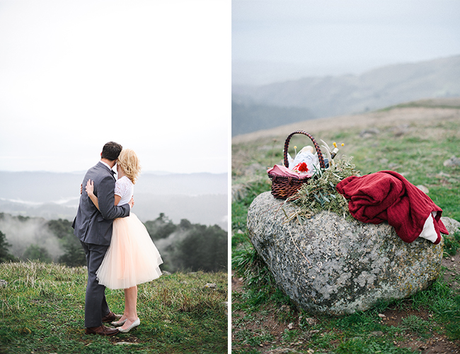 Santa Cruz Mountain Engagement Photos