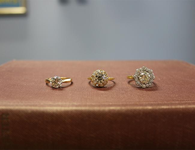 Trumpet & Horn Vintage Engagement Rings