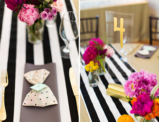 Colorful Striped Wedding