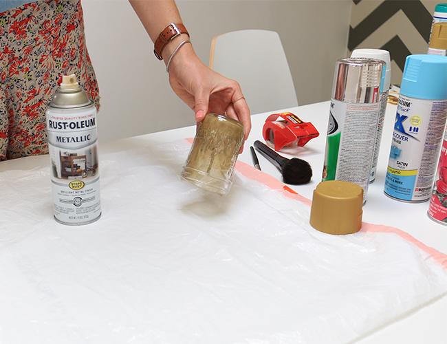 DIY: Mason Jar Makeup Brush Holders