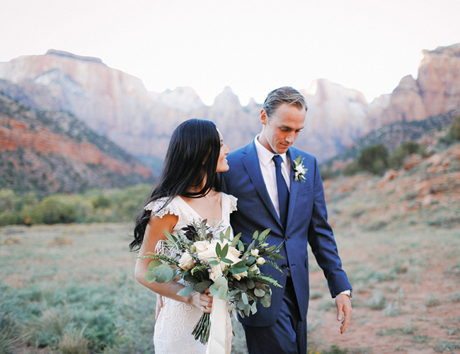 Intimate Zion National Park Wedding