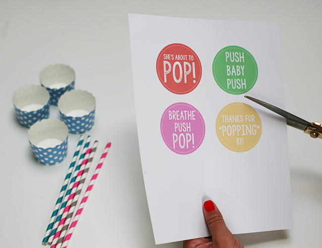 Baby Shower DIY: Cupcake Push Pops