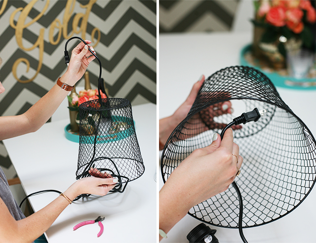DIY Basket Hanging Light