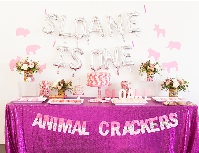 Animal Crackers First Birthday Party