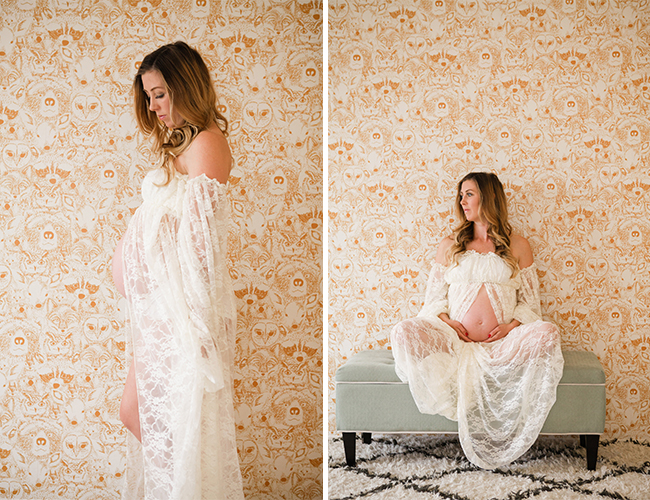 Maternity Photos at Home with Bel & Beau
