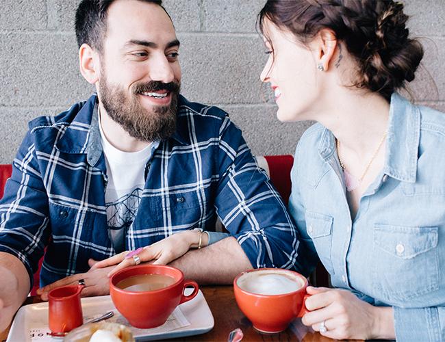 Coffee Shop Anniversary Photos