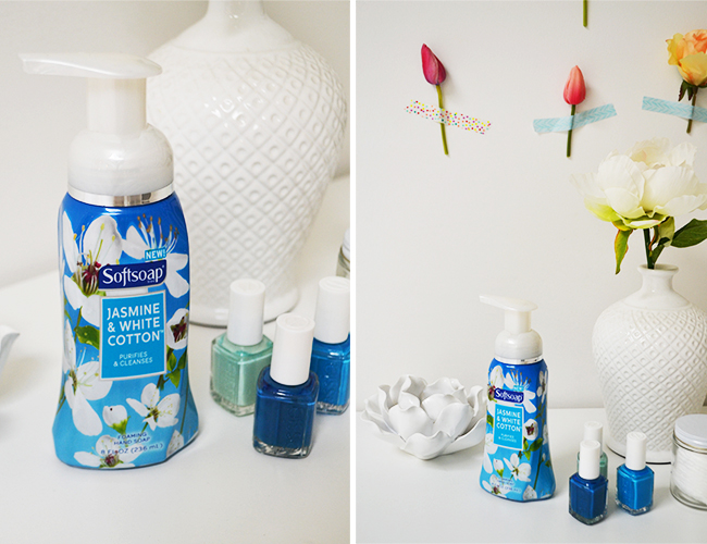 Refreshing your bathroom decor for spring with softsoap for Spring bathroom decor