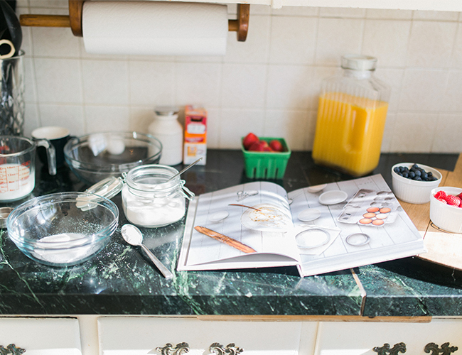 Pancake Baking Anniversary Photos
