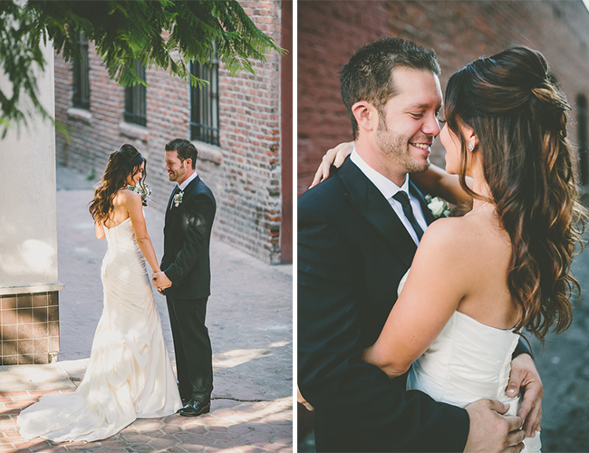 Black & Gold Downtown Wedding