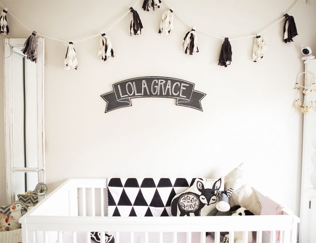 Geometric Black And White Nursery Inspired By This
