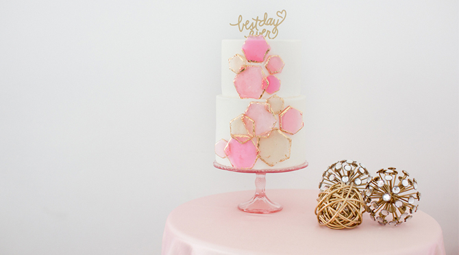 Geometric Pink Wedding Inspiration