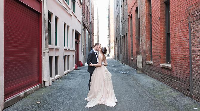 Blush Downtown Seattle Wedding