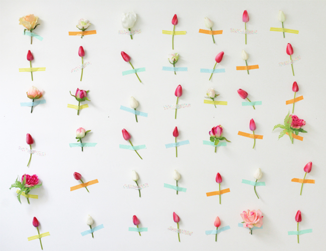 Wall Decor Flowers diy flower wall decor - inspiredthis
