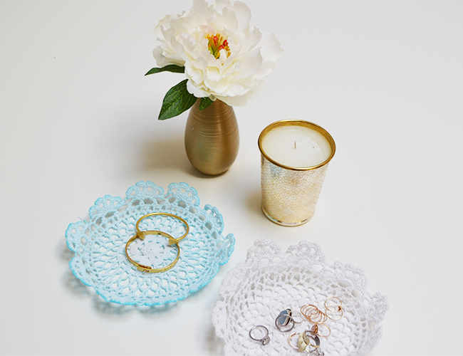 DIY Lace Jewelry Bowls