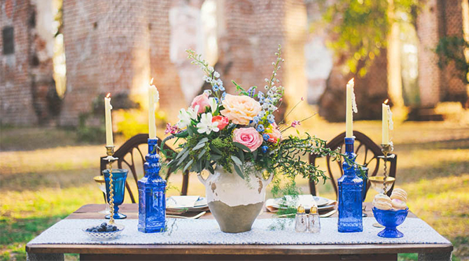 North Carolina Wedding At Old Church Ruins