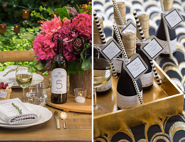 DIY: Champagne Bottle Wedding Favors - Inspired By This