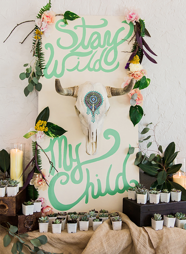 Bohemian Mint And Blue Baby Shower Inspired By This