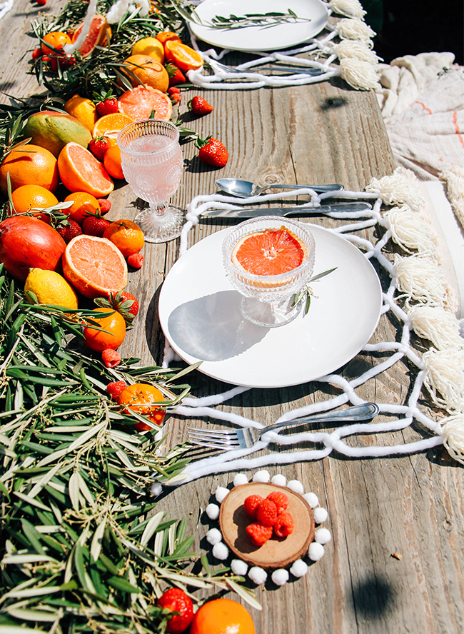 Courtyard Citrus Inspired Spring Brunch
